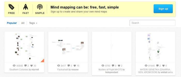 Myšlienkové mapy program Mind42